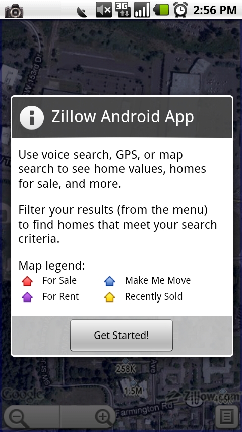 Zillow makes android debut droid life for Call zillow