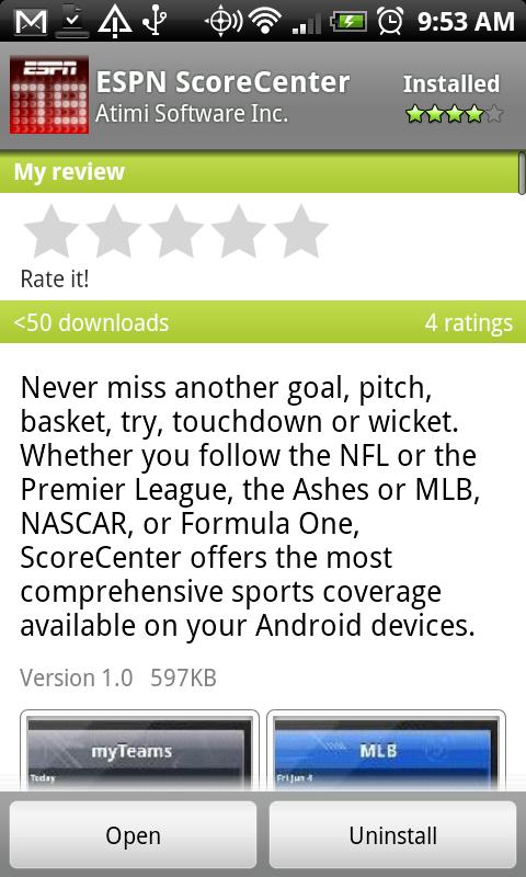 ESPN ScoreCenter App Hits Android Market – Droid Life