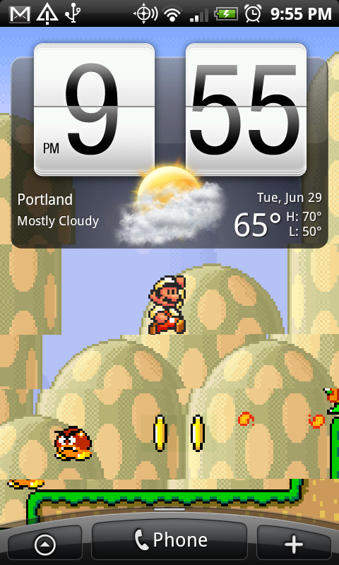 It Appears Now As If The Mario Live Wallpaper