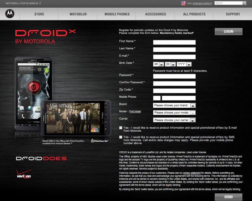 Verizon Motorola DROID X MB810 (Xtreme/Shadow) Pre-Release ...