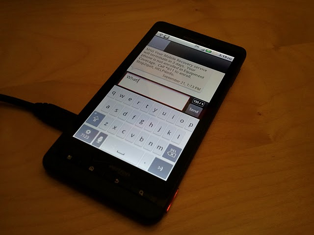 Software Upgrade Required to Fix DROID X Text Message Issue