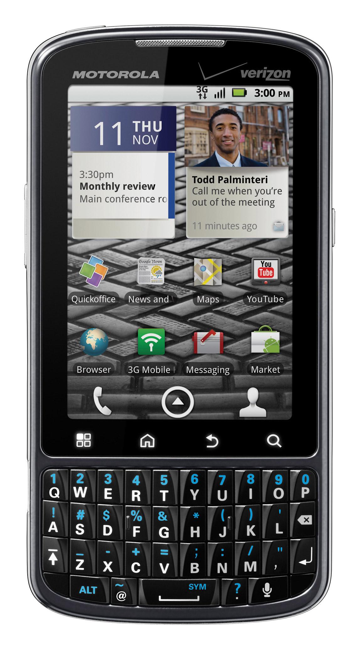 Droid Pro chega para concorrer com BlackBerry