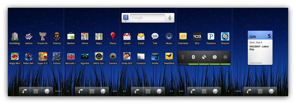 stock android notification - Screenshot do Motorola Olympus rodando Android 3.0, Gingerbread?