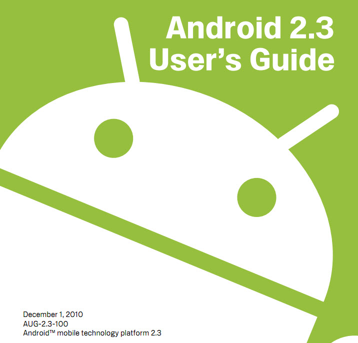 Android 2.3 User Guide Released (Updated)