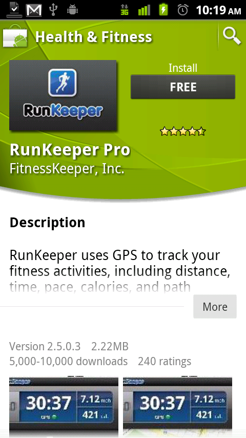 Android Market Runkeeper