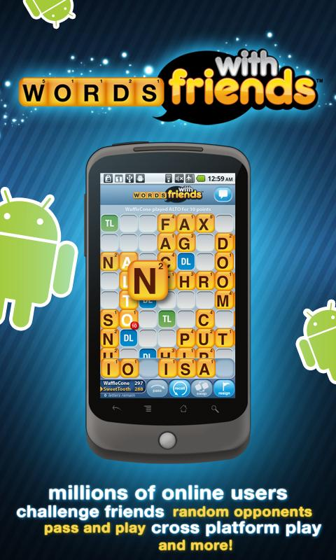 words with friends released on android droid life