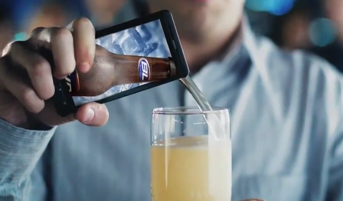 Droidx pours beer in new bud light commercial yes beer droid life note aloadofball Image collections