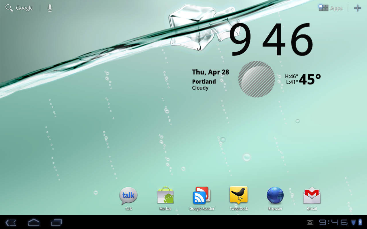 My Water Live Wallpaper Pulled From Transformer Ported To Motorola