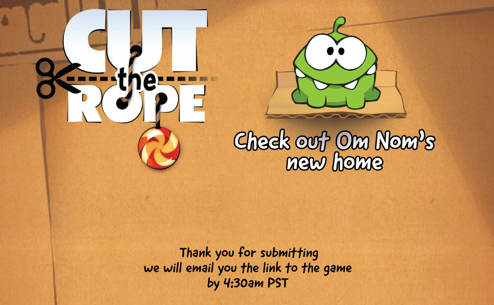 Want Cut the Rope on Android? Sign Up at this Reddit Landing Page
