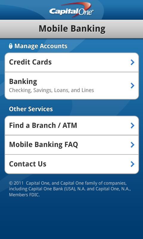 Capital One Releases Android App Pay Bills View Recent