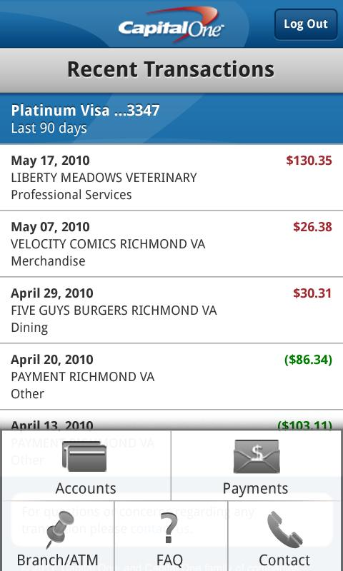 Capital One Releases Android App: Pay Bills, View Recent ...