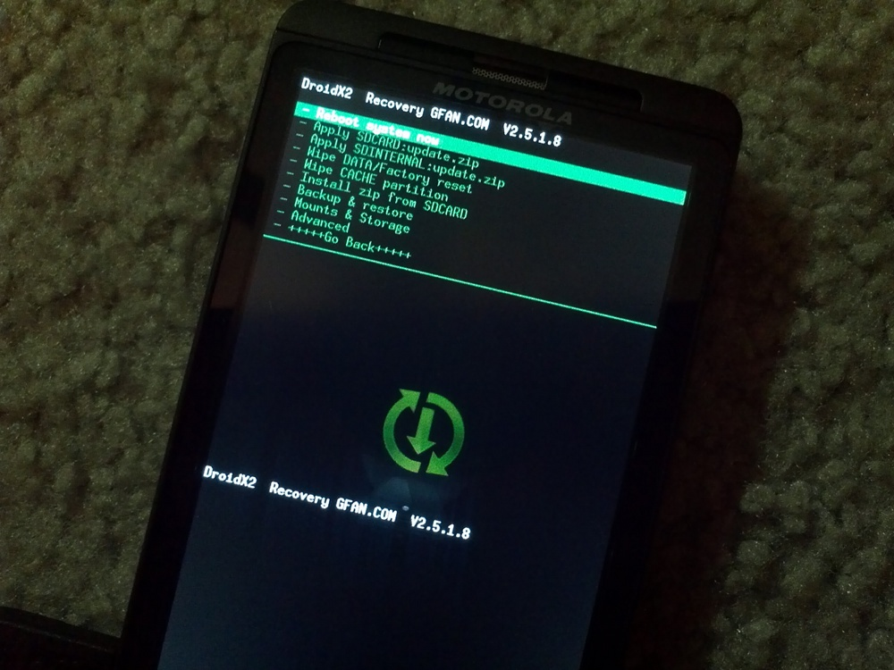 Bootstrap recovery droid x2 download.