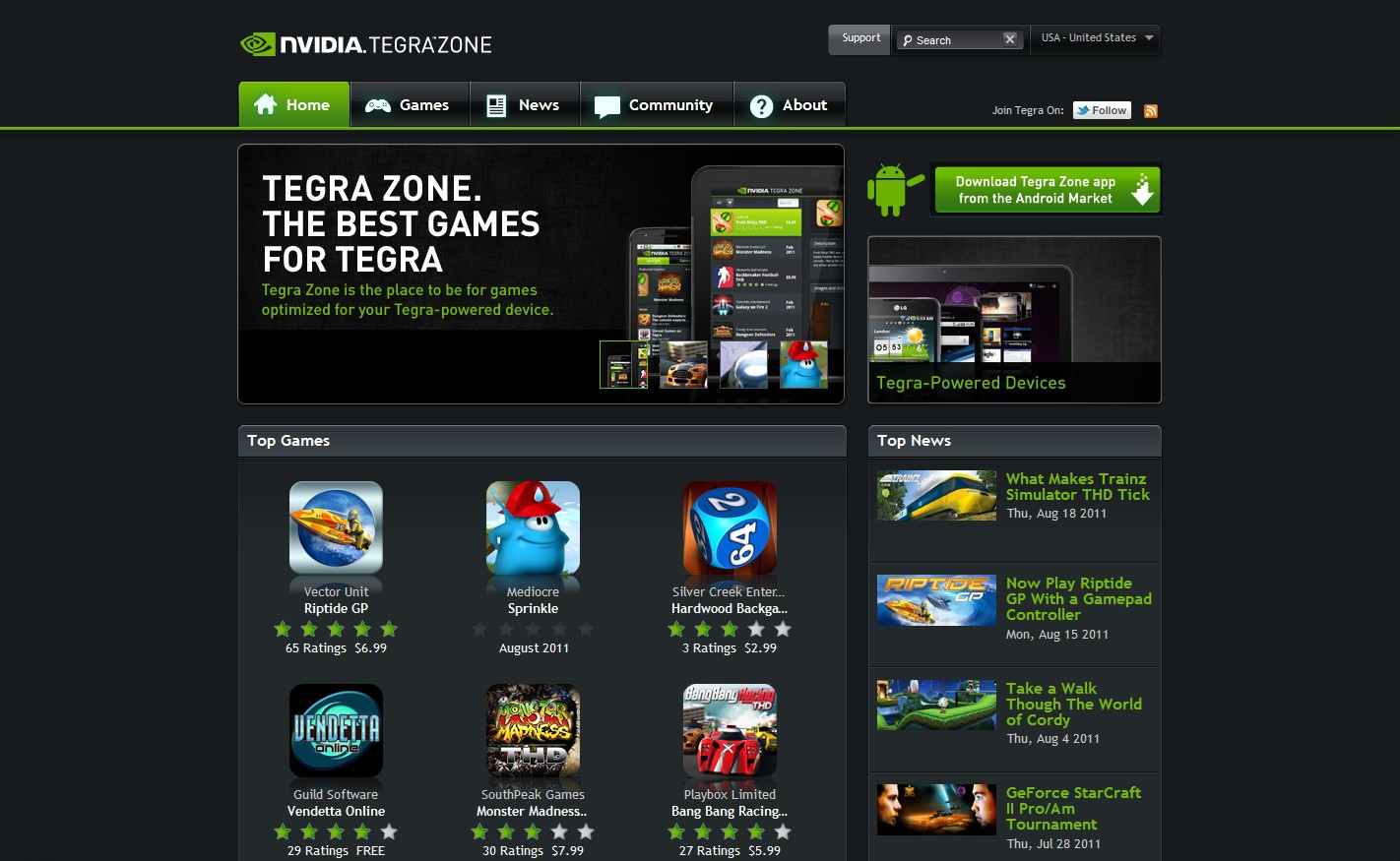 NVIDIA Launches TegraZone.com, Updates App, and Wants to ...