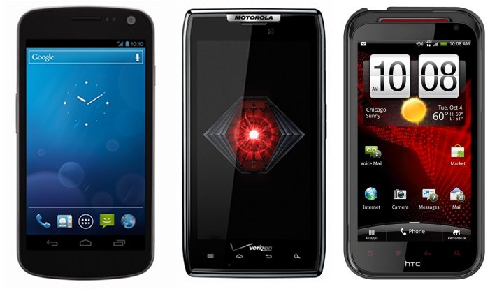 galaxy nexus droid razr rezound all