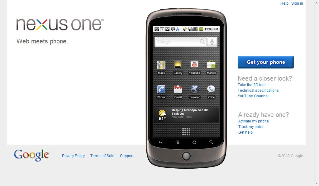 Nexus One - Web Meets Phone