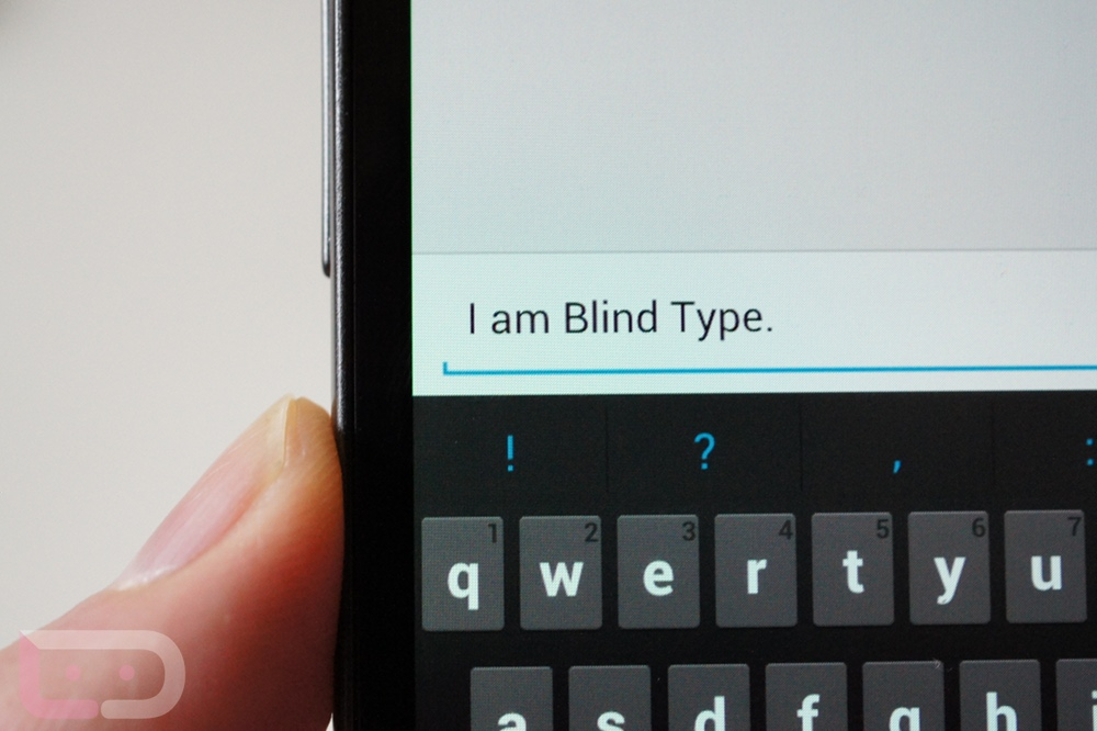 ice cream sandwich blind type keyboard