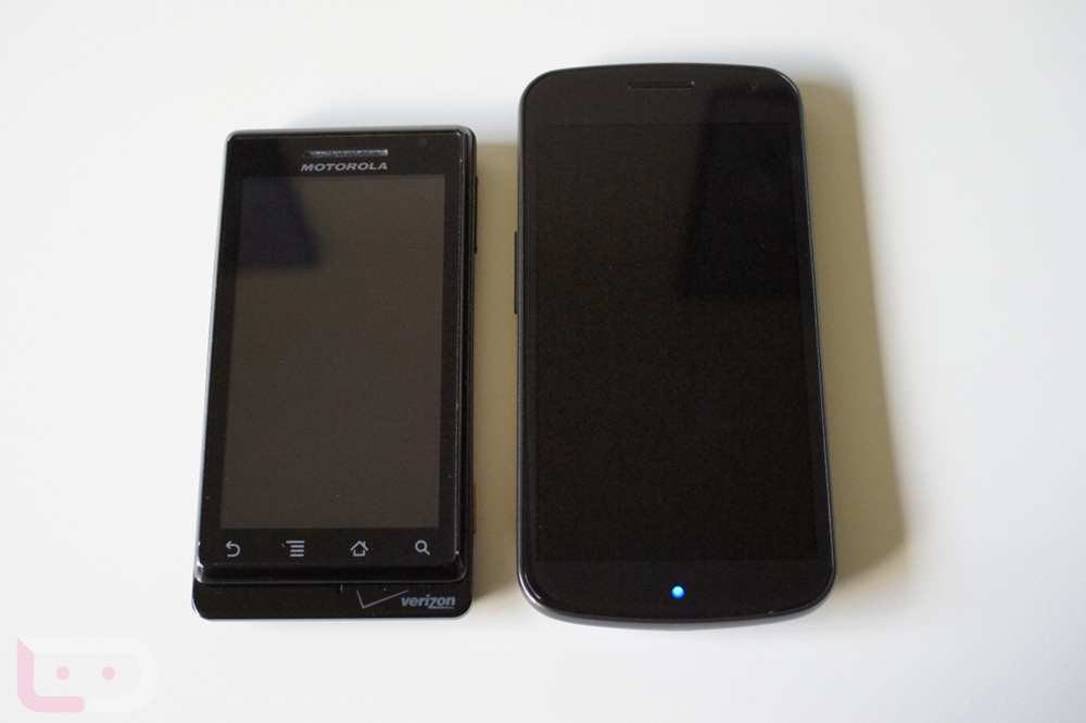 Samsung Galaxy Nexus vs. Original Motorola DROID