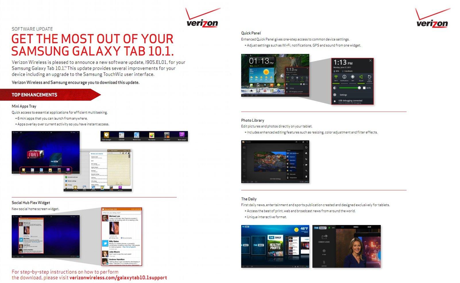 Samsung Galaxy Tab 10 1 4G LTE EL01 Update is Ready, TouchWiz for