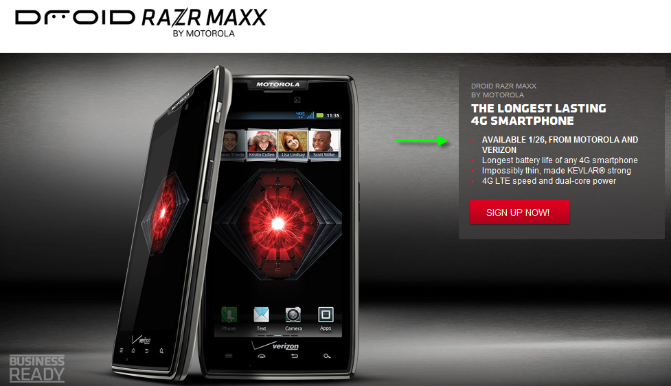 DROID RAZR MAXX Will Be Available January 26 According to Motorola ...