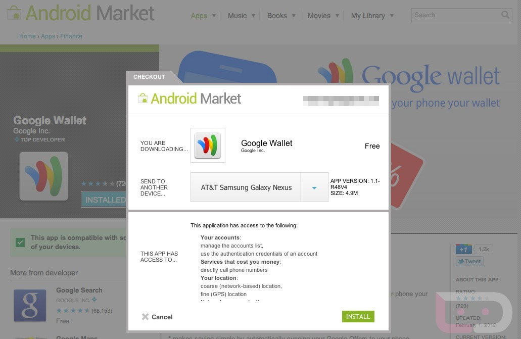 GSM Galaxy Nexus Receives Google Wallet Access on AT&T, Still Nothing