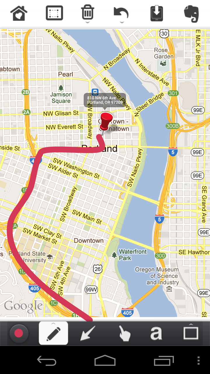 Skitch on Android Updated, Includes Ability to Draw on Maps – Droid on