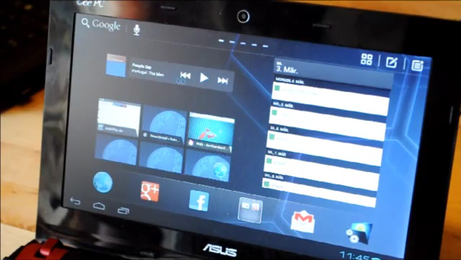 Video: ICS Ported Over To Asus X101 Netbook Thanks to Android-x86