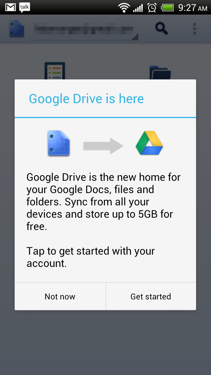 Google Drive App is Live in the Play Store, Actually Just Update