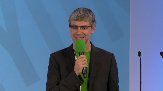 Larry Page Google Glasses