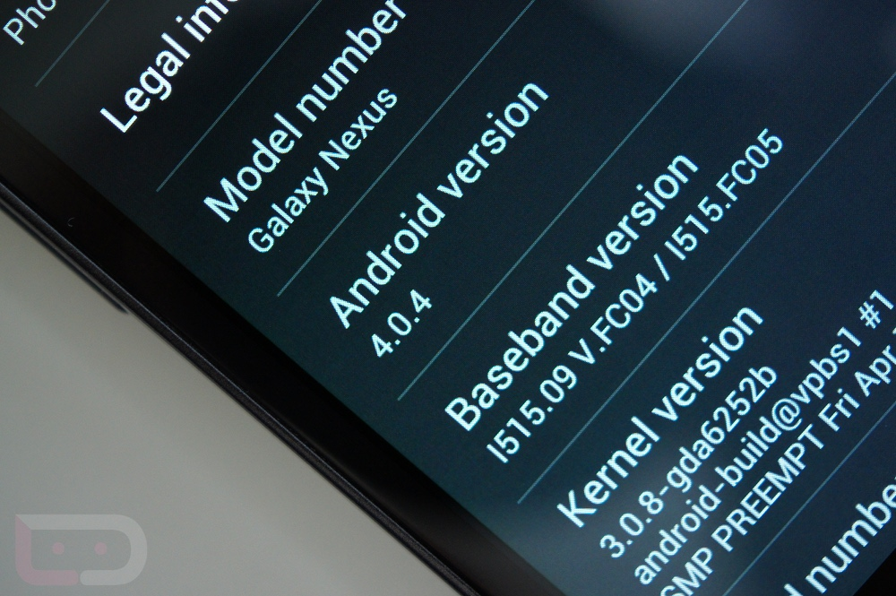 Download: Full Android 4 0 4 IMM76K Build for Galaxy Nexus