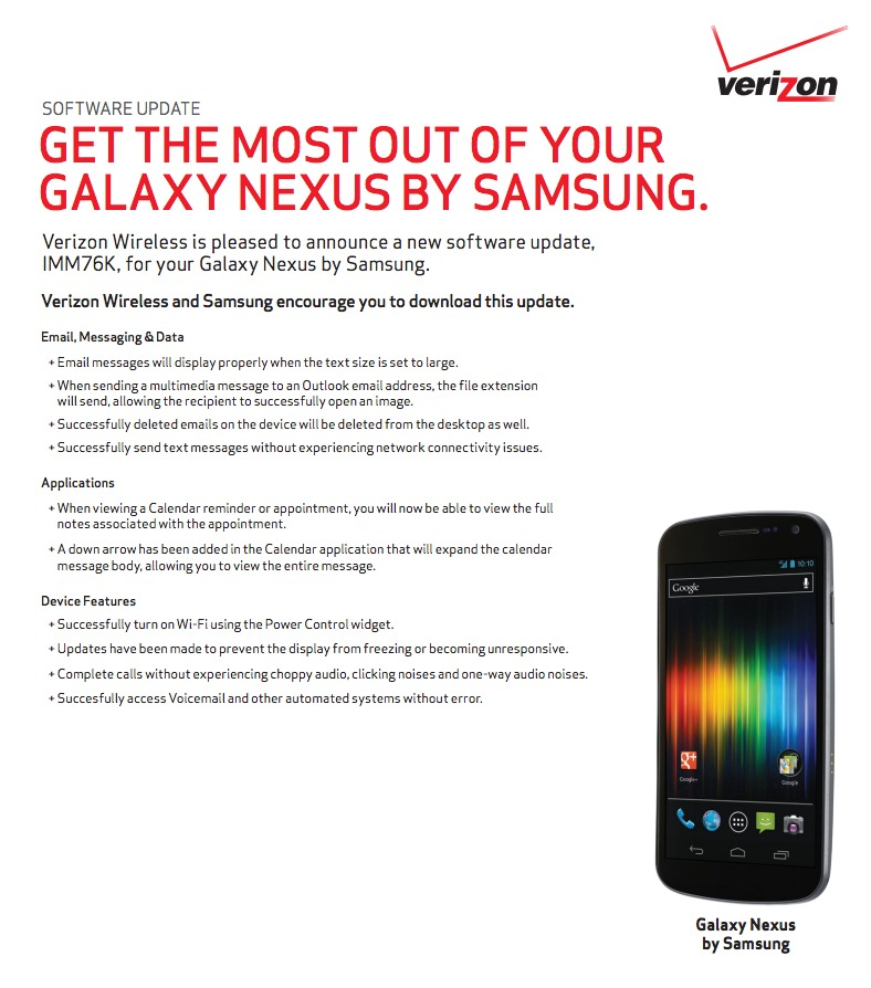 galaxy nexus update