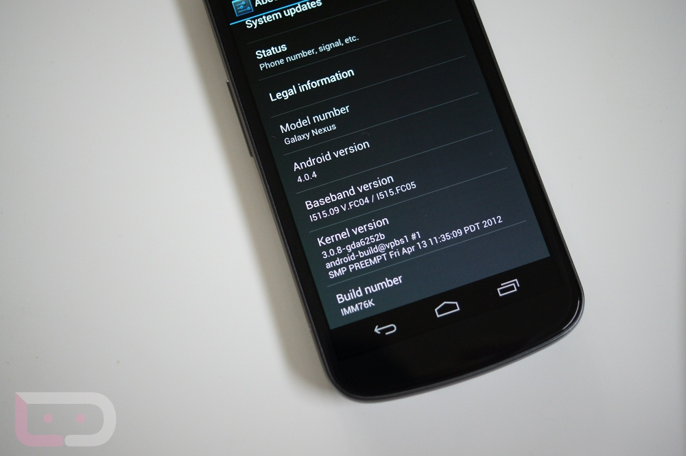 galaxy nexus imm76k update
