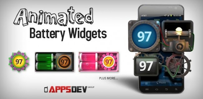 Animated Battery Widget Hits Google Play for $0.99