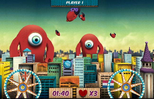 Frisbee Rush, a Game That Connects Our Mobile Computer