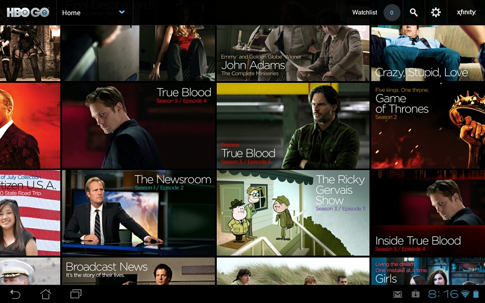 HBO GO Updated in Google Play, Android Tablets Now Supported