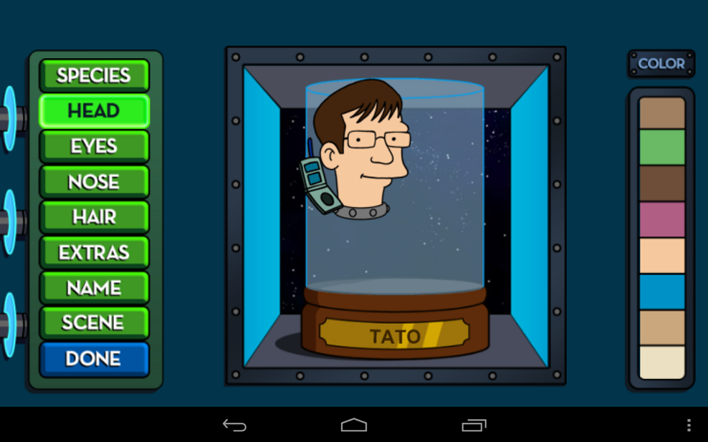 futurama head in a jar creator lands on google play shut