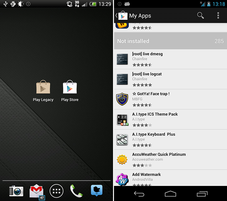 Legacy Play Store App by MoDaCo Brings Back Purchased Apps List