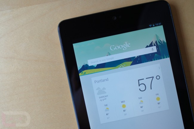 nexus 7 google now