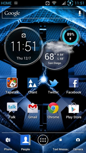 Clock Widget From Atrix HD Pulled, Installable on Your Device