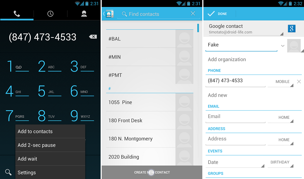 how to search up phone numbers in your contacts