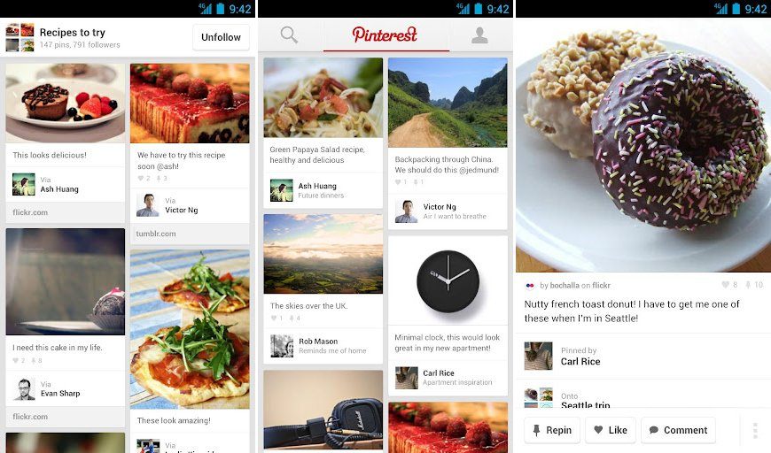 Official pinterest app finally arrives on android droid life for Pinterest download