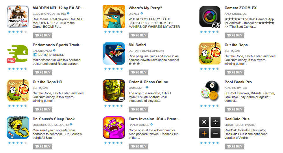 Today's $0 25 Android Apps are Live – Cogs, Cut the Rope