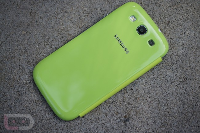 galaxy s3 green flip cover