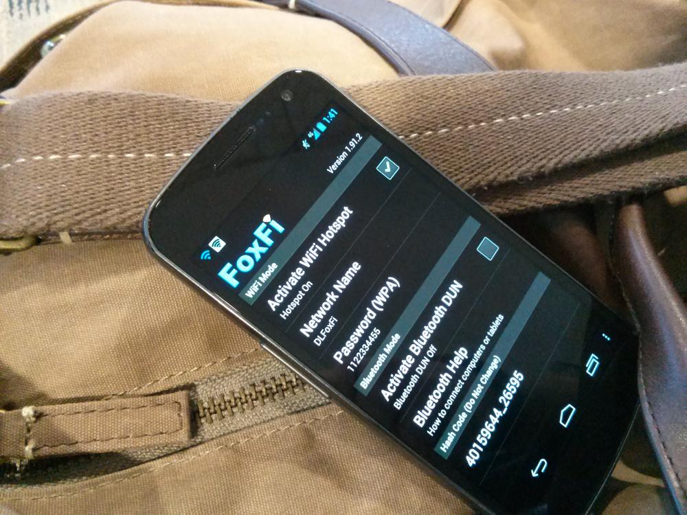 FoxFi Now Works With Verizon's Galaxy Nexus Running Jelly Bean