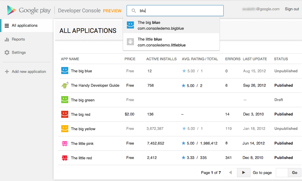 Shiny new revamped google play developer console now for Google consule