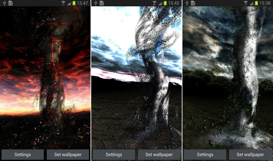 Tornado 3D Live Wallpaper For Android Bill Paxton Not Included