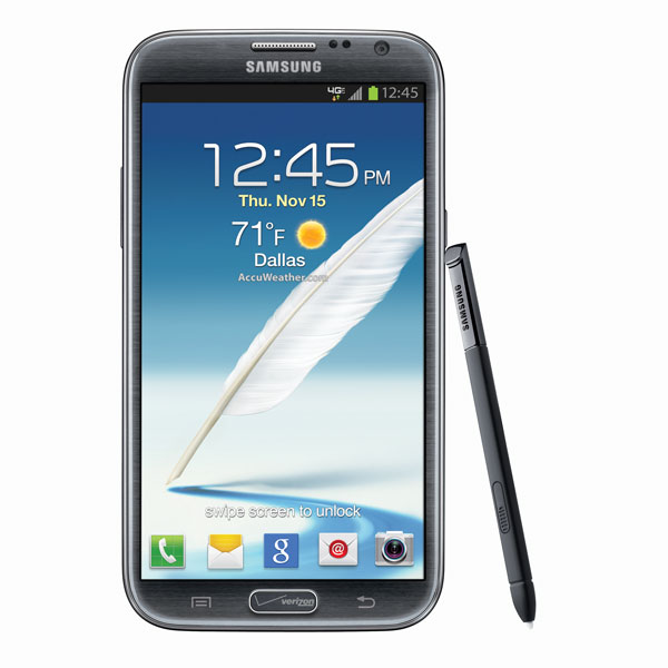 Samsung Posts Verizon Galaxy Note 2 Gallery, Home Button Branding