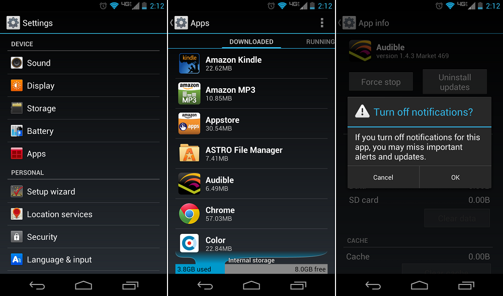How To Disable Android Application Notifications