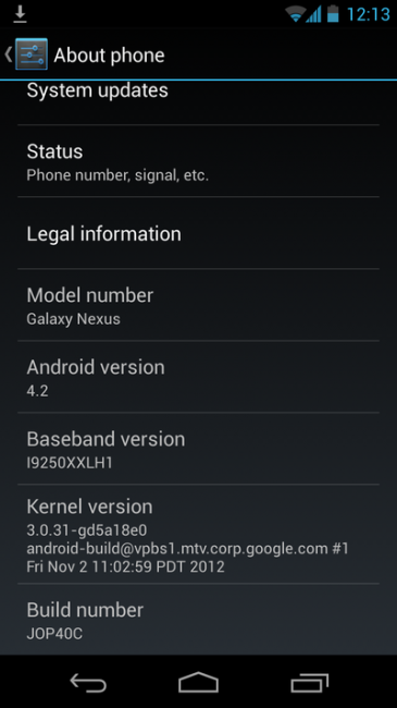 galaxy nexus 4.2 365x650 Android Update 2.3.5 Gingerbread
