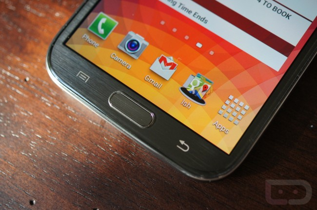 galaxy note 2 hardware keys
