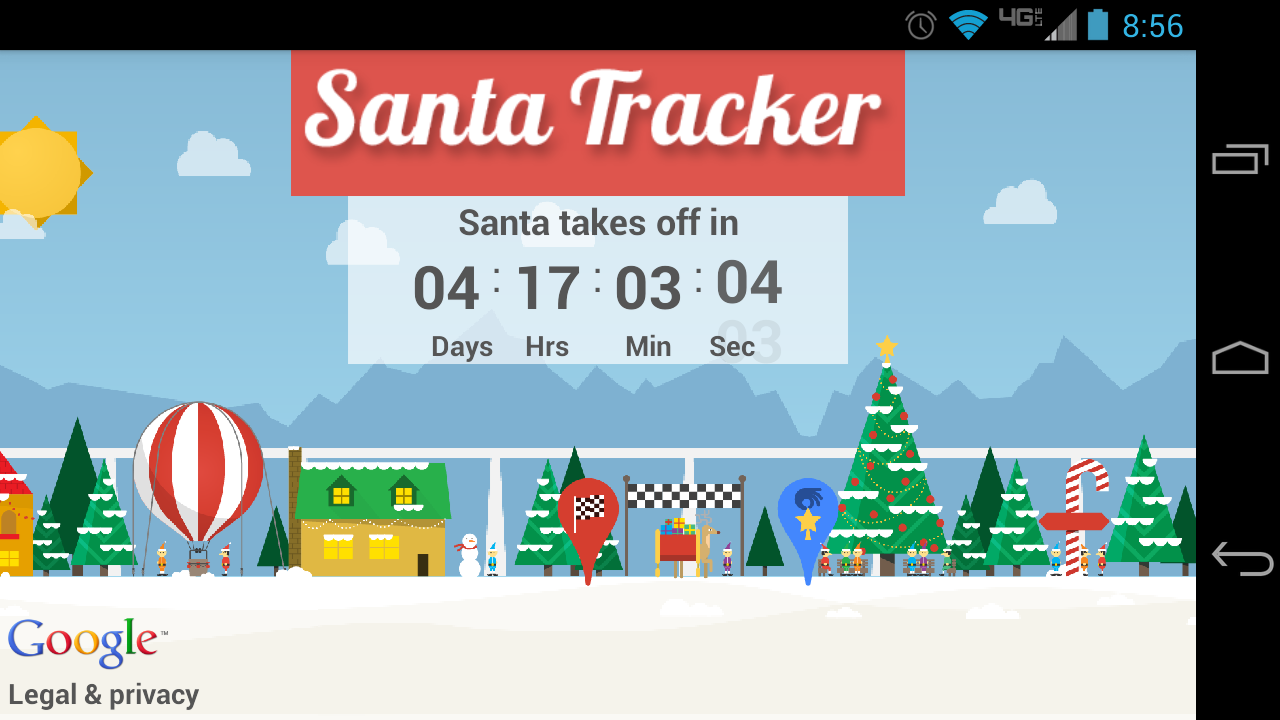 google releases santa tracker app let the countdown begin droid life